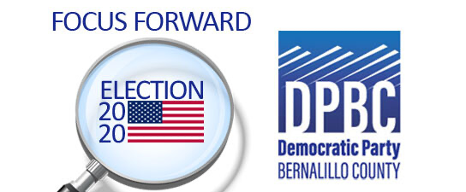Focus Forward and Democratic Party of Bernalillo County Logos