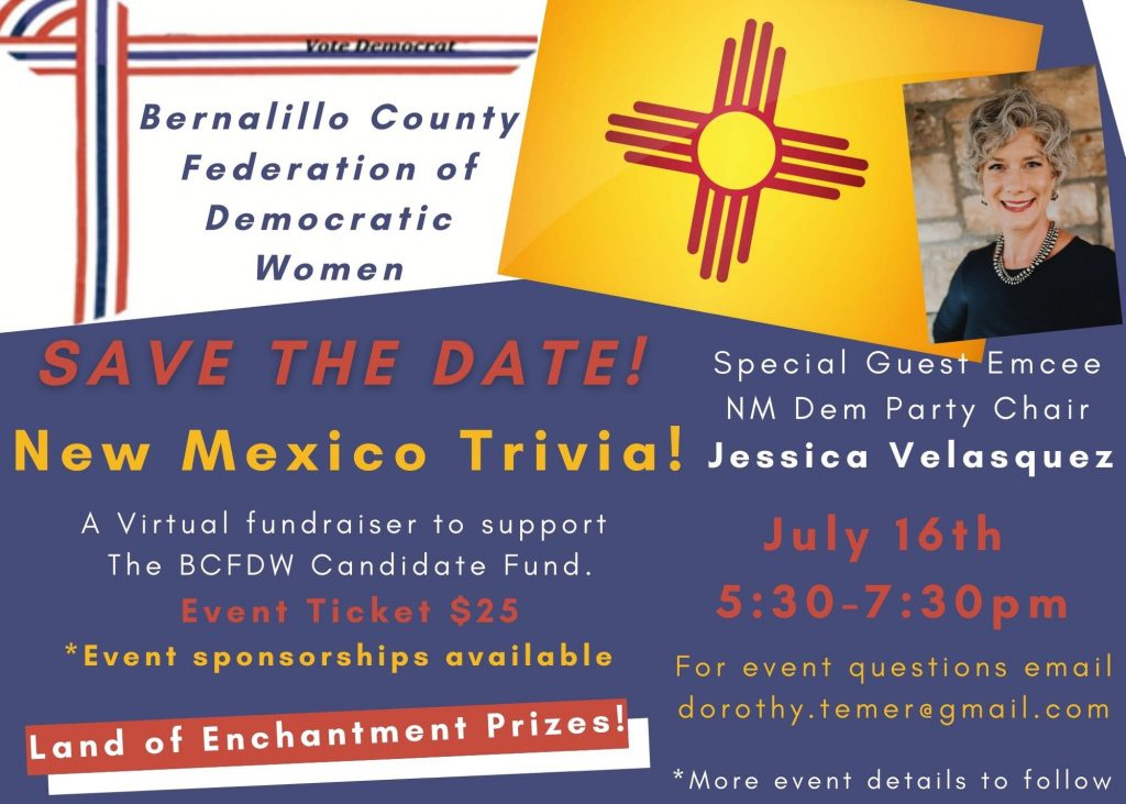 Save the date for a Fundraiser benefiting the BCFDW Candidate Fund