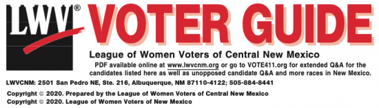 League of Women Voters 2020 Voter Guide