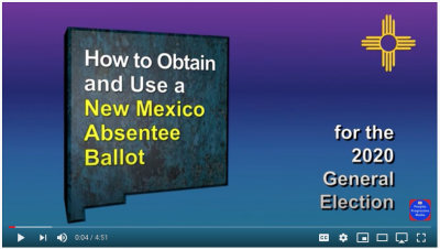 New Mexico absentee ballot instructions on YouTube